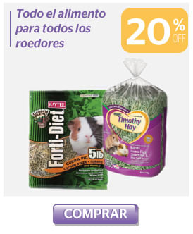 20 off alimento roedores
